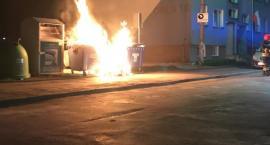 Pożar śmietnika na osiedlu Orle