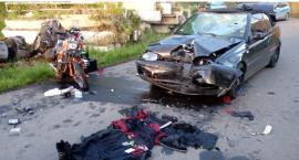 Koszmarny wypadek motocyklisty w Czernicy