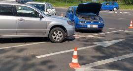 Zderzenie trzech samochodów na Ogińskiego