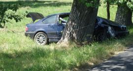 Pijany kierowca skończył jazdę na drzewie