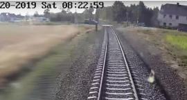 Bus utknął na przejeździe kolejowym - zobacz nagranie z perspektywy maszynisty!