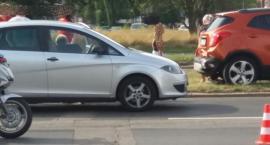 Zderzenie trzech aut w Alei Jana Pawła