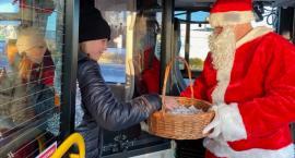 Mikołaj prowadzi jeden z autobusów MZK!