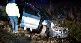 Zderzenie dwóch samochodów w Radomierzu