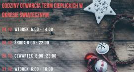 Godziny otwarcia Term Cieplickich w okresie świątecznym