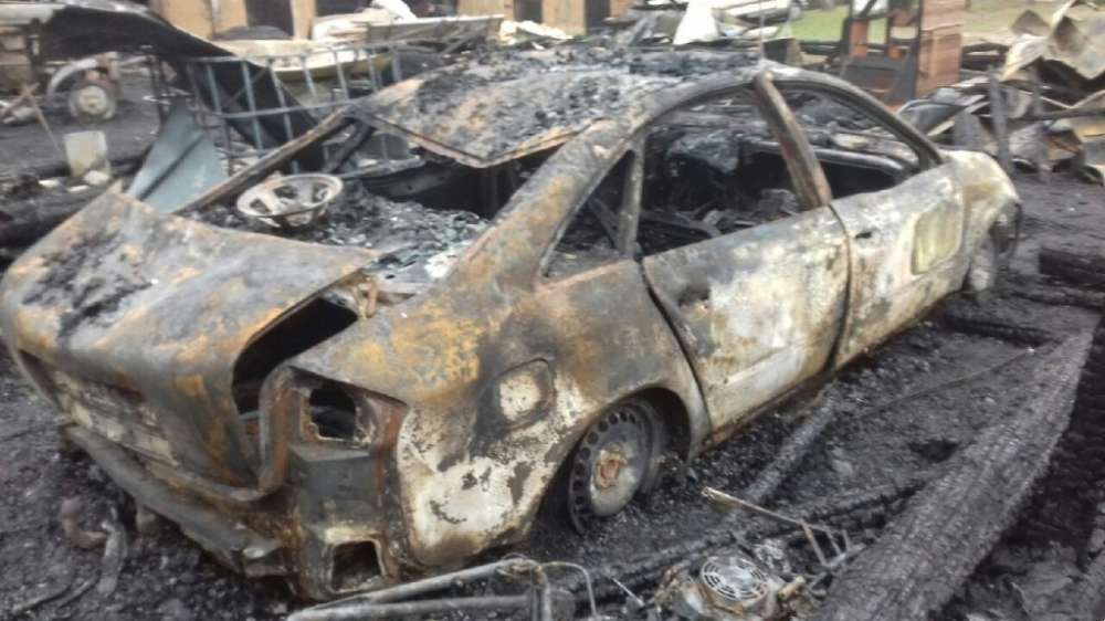 Interwencje straży i pożary, Spłonęła stodoła - zdjęcie, fotografia