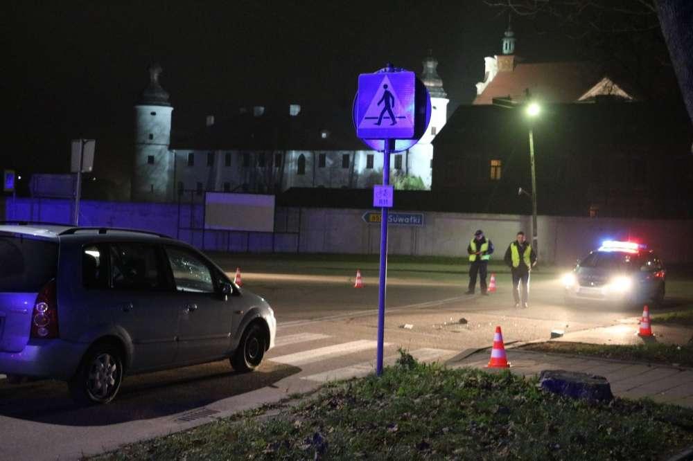 Wypadki drogowe, Wypadek przejściu pieszych - zdjęcie, fotografia