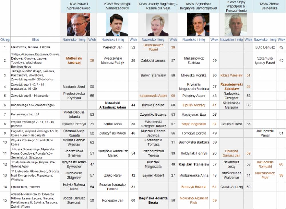Wybory samorządowe, Kandydaci radnych - zdjęcie, fotografia