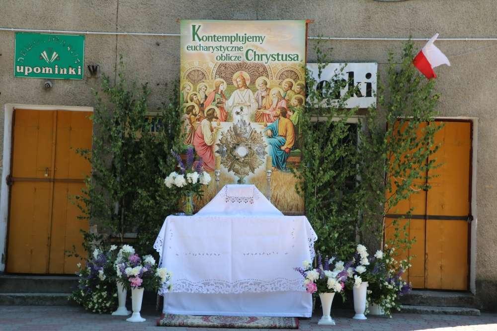 Uroczystości Obchody, Boże Ciało sejneńskie ołtarze - zdjęcie, fotografia