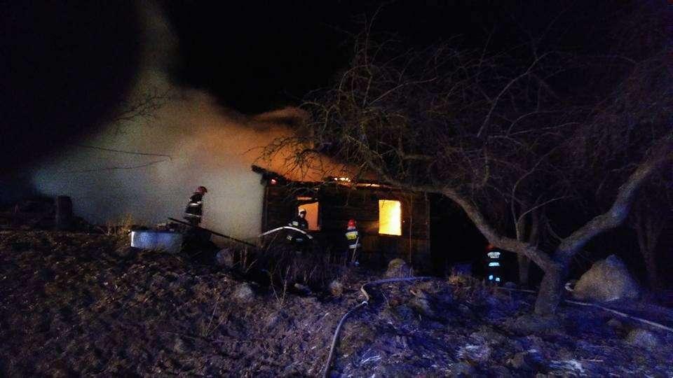 Interwencje straży i pożary, Pożar Nowinnikach - zdjęcie, fotografia