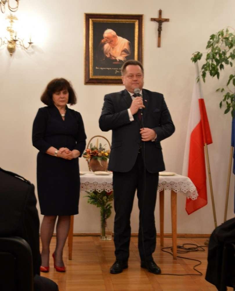 Wydarzenia, Spotkanie opłatkowe ministrem Zielińskim - zdjęcie, fotografia