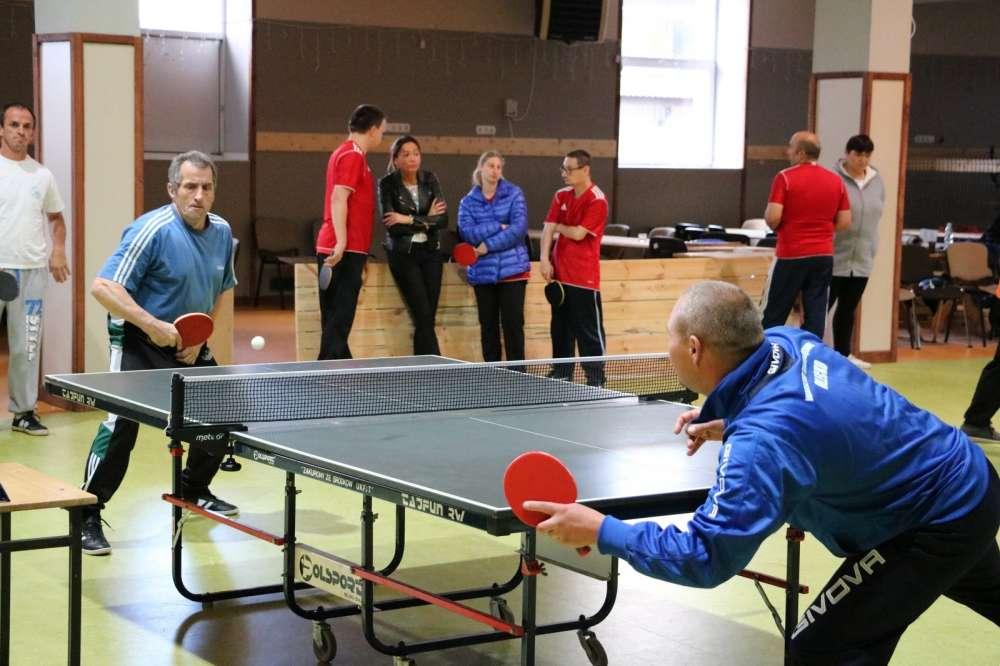Inne sporty, Turniej Tenisa Stołowego Osób Niepełnosprawnych - zdjęcie, fotografia