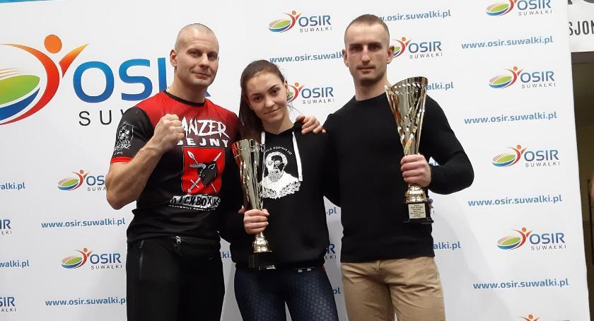 Kickboxing, Zawodnicy Panzer Sejny górą - zdjęcie, fotografia