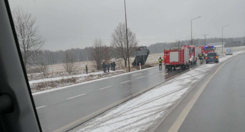 Wypadki drogowe, Wypadek Pawłówce - zdjęcie, fotografia