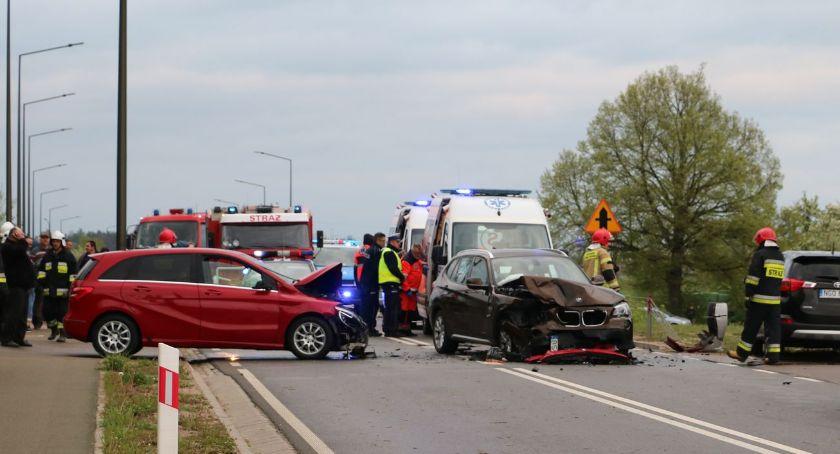 Wypadki drogowe, Wypadek! Droga Sejny Suwałki zablokowana - zdjęcie, fotografia