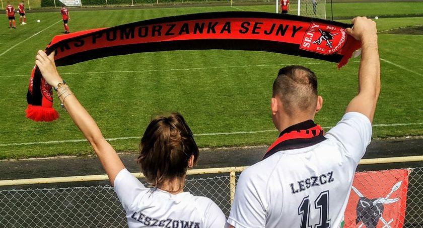 Piłka nożna, Pomorzanka Sejny rozbiła dziś Orła Kolno zabierając miejsce (foto film) - zdjęcie, fotografia