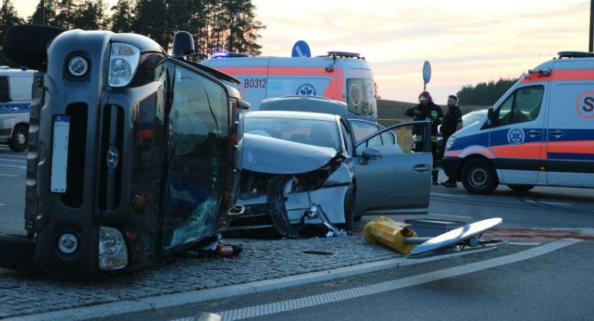 Wypadki drogowe, Kolizja osobowych Krasnopolu - zdjęcie, fotografia