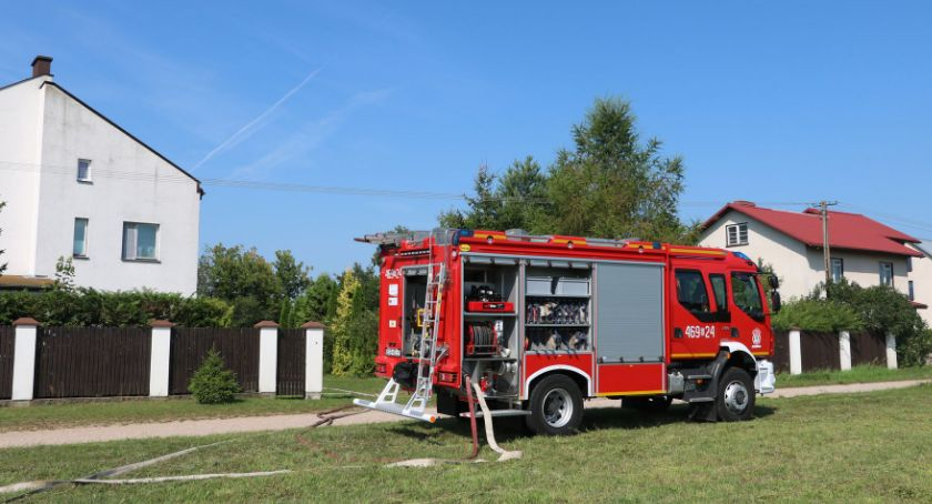 Interwencje straży i pożary, Pożar kotłowni budynku agroturystycznym - zdjęcie, fotografia