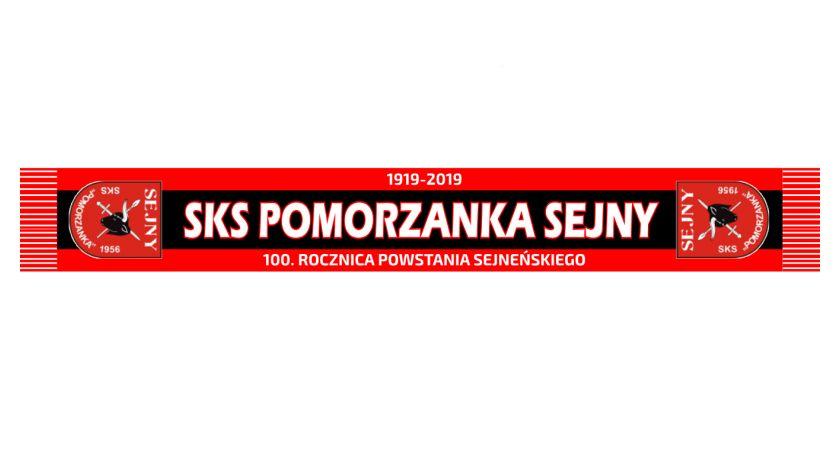 Piłka nożna, Szaliki klubowe Pomorzanka Sejny edycja limitowana - zdjęcie, fotografia