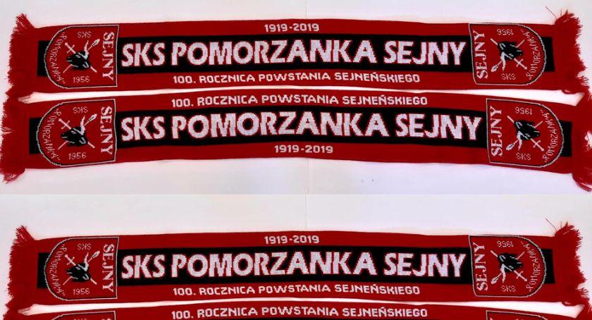Piłka nożna, Szaliki Pomorzanki jutra sprzedaży - zdjęcie, fotografia