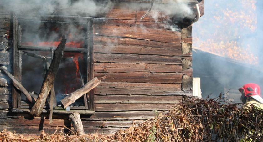 Interwencje straży i pożary, Berżnikach spłonął - zdjęcie, fotografia