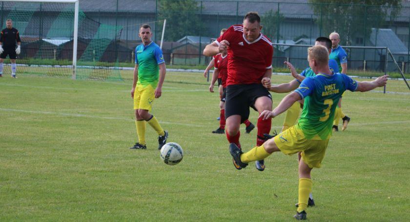 Piłka nożna, Pomorzanka Sejny Piast Białystok - zdjęcie, fotografia