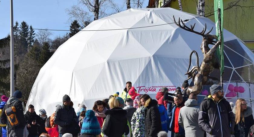 imprezy, Mistrzostwa Polski Rzeźbie Śniegu zakończenie Trójki Górom - zdjęcie, fotografia