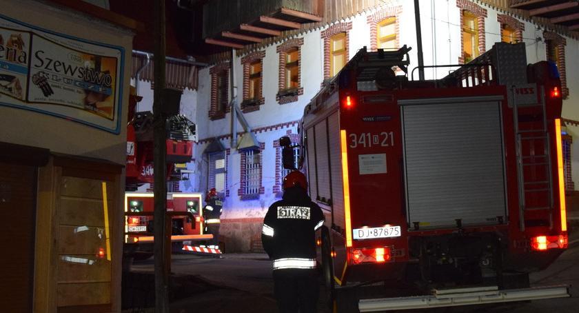 Na sygnale, Pożar sadzy kominie - zdjęcie, fotografia
