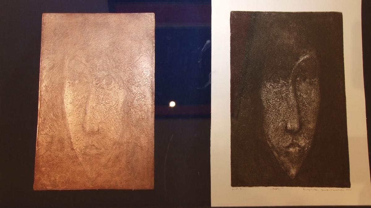 Wydarzenia, Płyty malowane prądem legnickim muzeum - zdjęcie, fotografia