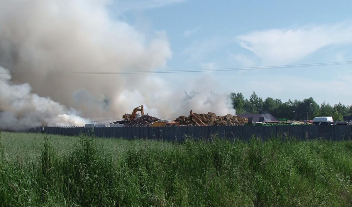 Interwencje straży i pożary, Potężny pożar składowiska odpadów Aktualizacja - zdjęcie, fotografia