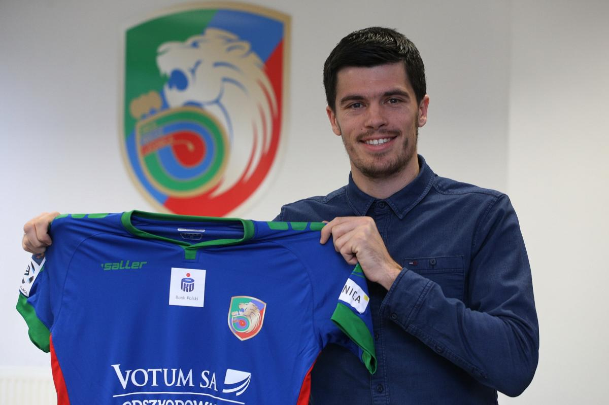 Piłka nożna, Oficjalnie Bożo został piłkarzem Miedzi Legnica - zdjęcie, fotografia
