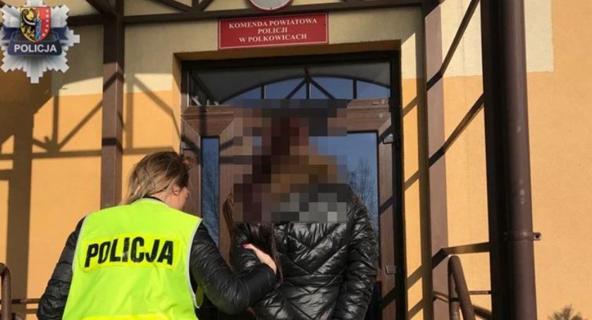 Komunikaty Policji, latka Legnicy zatrzymana gościnnych występach Polkowicach - zdjęcie, fotografia