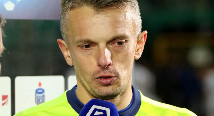 Piłka nożna, Oceniamy Miedź Legią Łukasz Sapela uchronił przed klęską - zdjęcie, fotografia