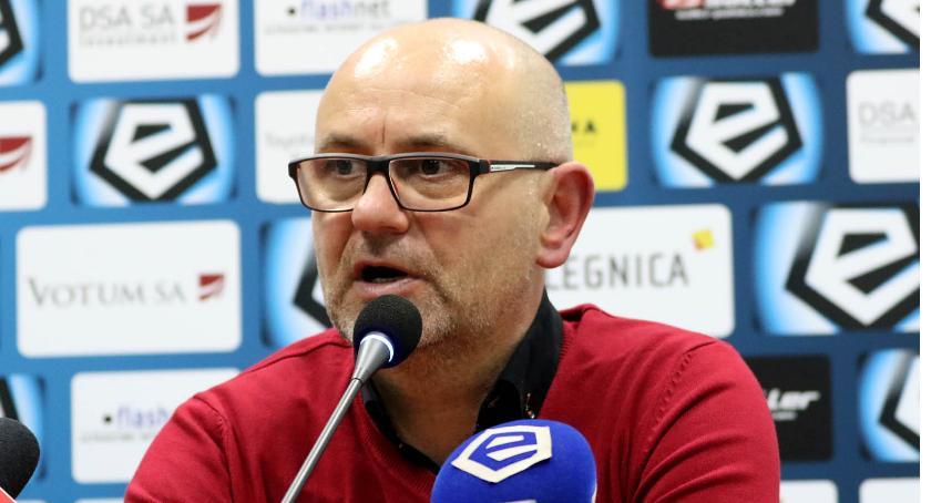 Piłka nożna, Dominik Nowak meczu Zagłębiem jesteśmy mocno rozczarowani wynikiem - zdjęcie, fotografia