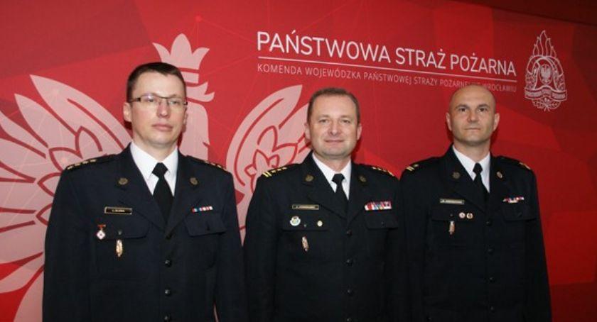 Interwencje straży i pożary, Marcin Swenderski oficjalnie zastępcą szefa legnickich strażaków - zdjęcie, fotografia
