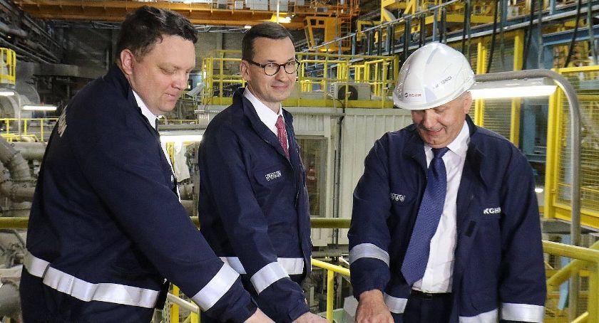 Zdjęcie: Premier Mateusz Morawiecki w Hucie Miedzi w Legnicy