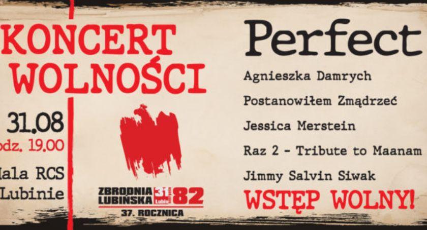 Muzyka Koncerty, Perfect gwiazdą Wielkiego Koncertu Wolności Lubinie - zdjęcie, fotografia