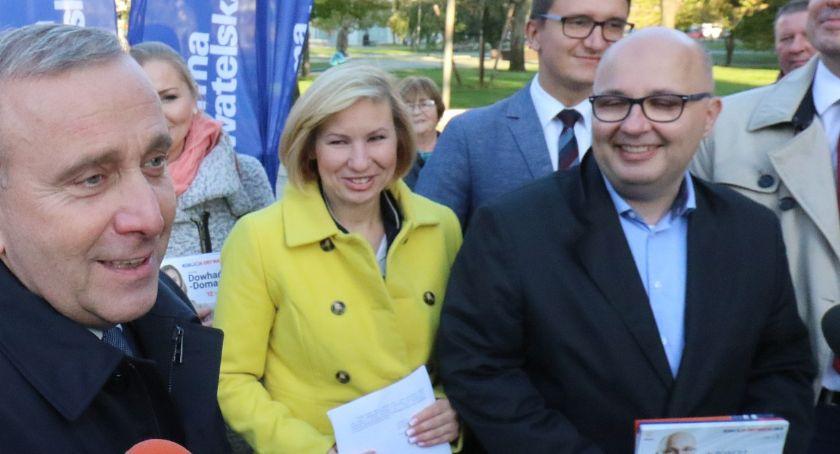 Wydarzenia, Legnica trasie tournée lidera Koalicji Obywatelskiej [ZDJĘCIA] - zdjęcie, fotografia