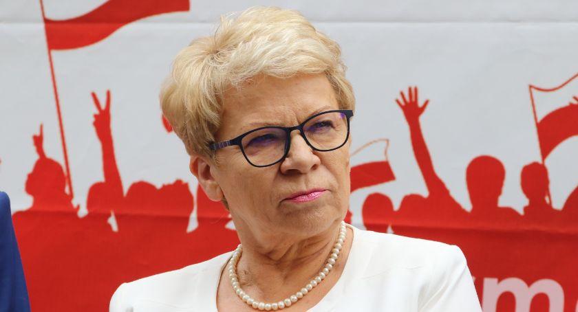 """Wydarzenia, Posłanka Szymańska """"Tu chodzi kopalnię tylko kopanie PiS"""" - zdjęcie, fotografia"""
