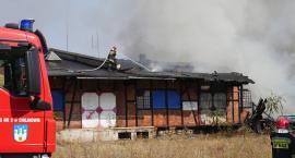 Groźny pożar przy dworcu
