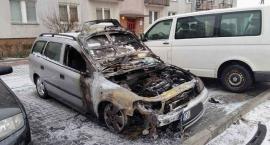 Pożar samochodu przy alei Rzeczypospolitej