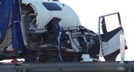 Wypadek na autostradzie A4. Zderzyły się dwie ciężarówki
