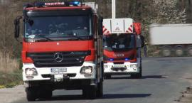 Pożar potężnego zbiornika z paliwem w podlegnickich Kawicach