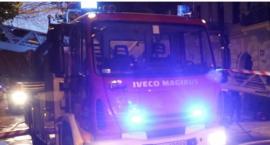 Nocny pożar w centrum Legnicy