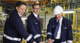Premier Morawiecki uruchomił nowy piec w Hucie Miedzi Legnica