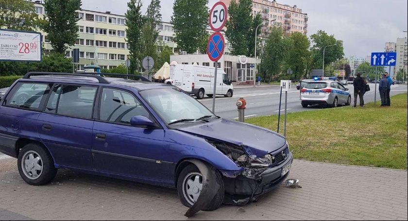 Wypadki drogowe, Wypadek Galerii Amber - zdjęcie, fotografia
