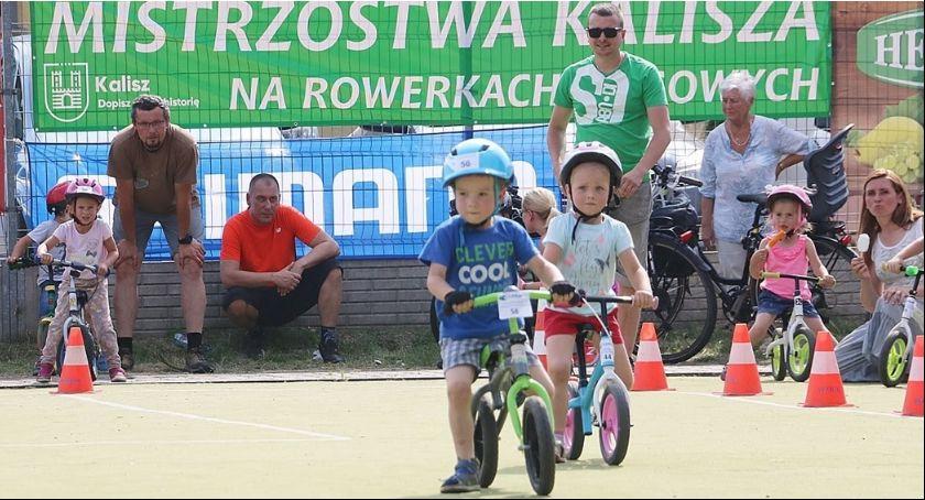 Kolarstwo, Mistrzostwa Kalisza rowerkach biegowych Torowe Grand czerwca - zdjęcie, fotografia