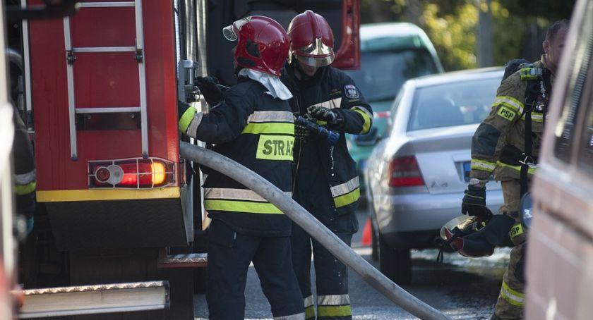 Pożary - interwencje Straży Pożarnej, Palił Korczaku - zdjęcie, fotografia