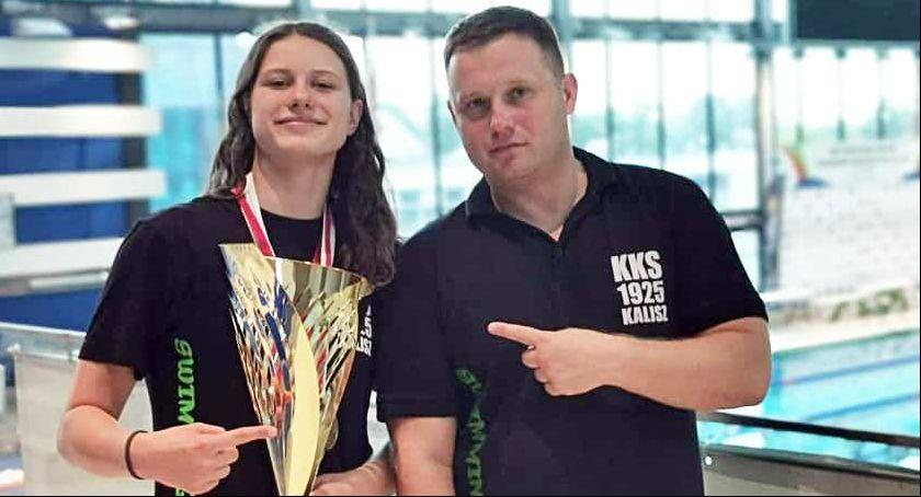 Pływanie, Pływaczka Kalisz najlepsza Polsce Julia dwukrotną mistrzynią kraju - zdjęcie, fotografia
