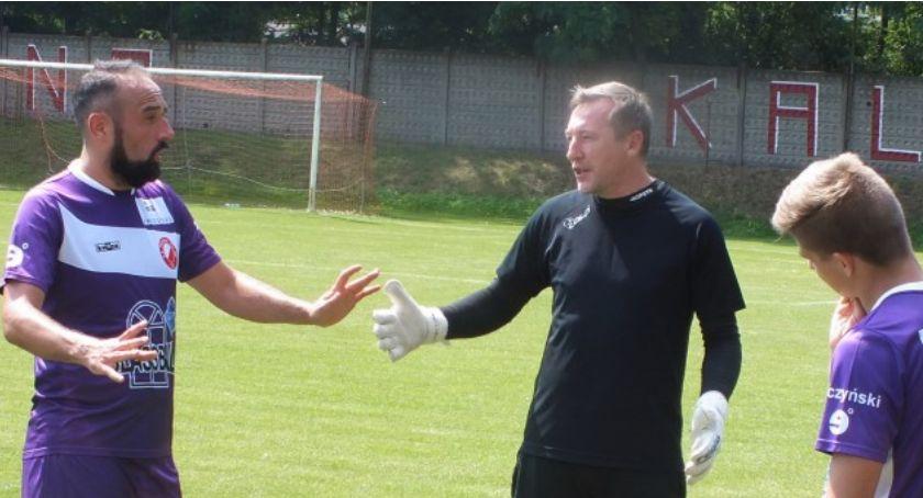 Piłka nożna, Kaliska Prosna ostro strzela meczach sparingowych - zdjęcie, fotografia
